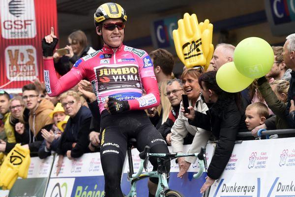 Le cycliste néerlandais Mike Teunissen en 2019, dernier vainqueur de l'épreuve.