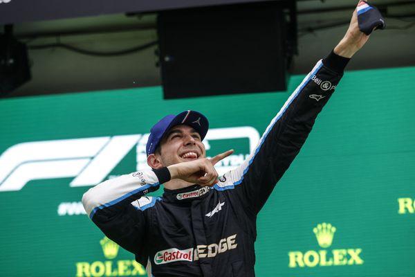 Esteban Ocon, victorieux au Grand Prix de Hongrie le 1er août 2021