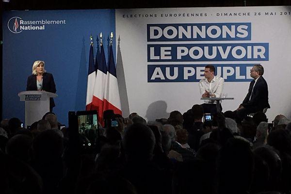 Marine Le Pen en meeting à Richemont (Seine-Maritime)
