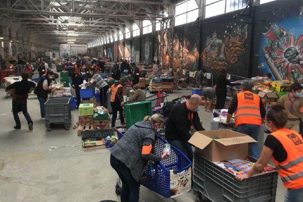En Haute-Garonne, 550 bénévoles ont répondu présents pour trier les denrées alimentaires qui seront ensuite redistribuées aux associations.