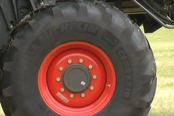 Michelin la Chapelle est l'unique site en France de pneus agricoles.