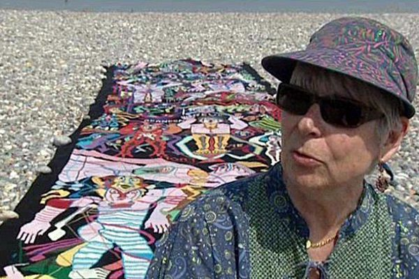 Nicole Bayle a déjà réalisé un tricot de 35 mètres.