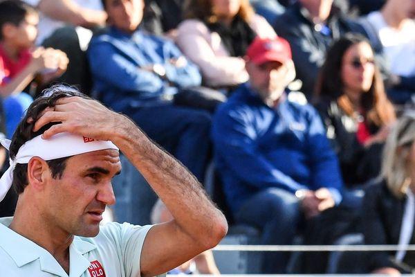 Roger Federer le 16 mai 2019 à Rome (illustration).