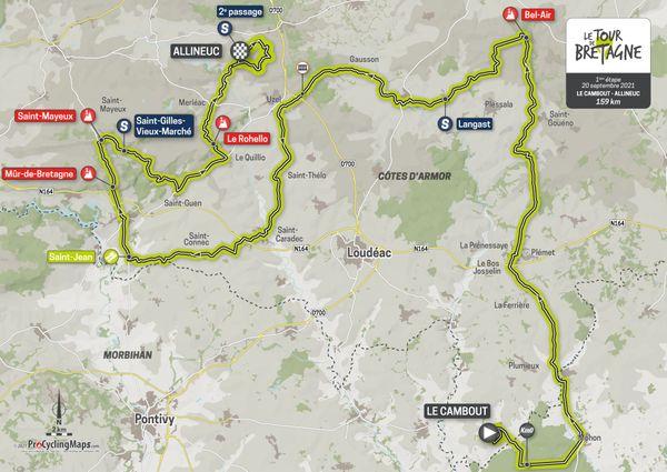 Parcours de la 1ère étape du Tour de Bretagne 2021
