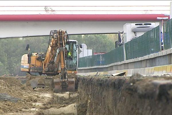 Les travaux sur la rocade de Toulouse pour la mise à 2X3 voies