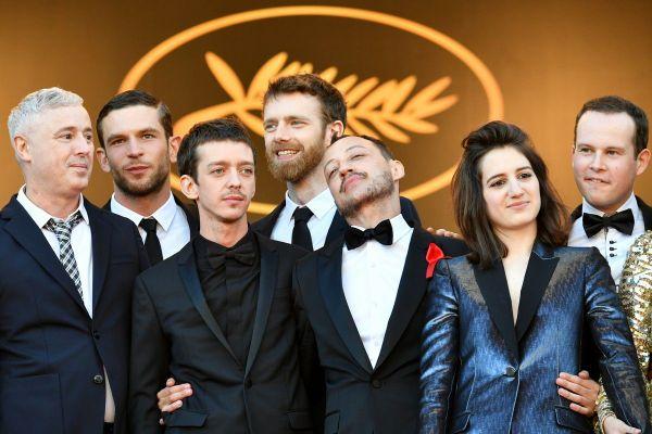 """L'équipe du film """"120 battements par minute"""" au festival de Cannes 2018"""