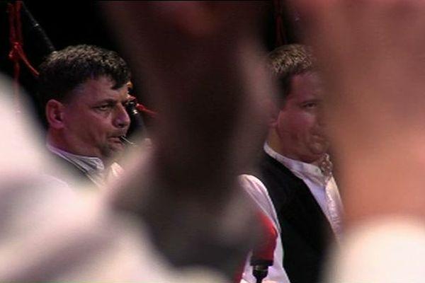 Le bagad Auray à la première manche du championnat des bagadoù