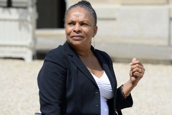 Christiane Taubira, garde des Sceaux, et ministre de la Justice devant l'Elysée