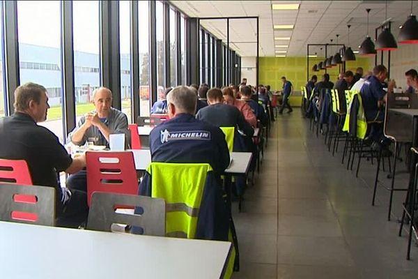 Plus de 300 couverts sont servis chaque jour dans le restaurant de l'entreprise Michelin à Blanzy