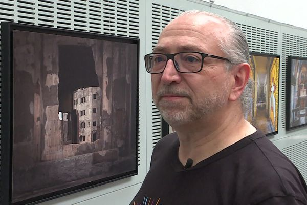 Le photographe Francis Meslet à Epinal en août 2020.