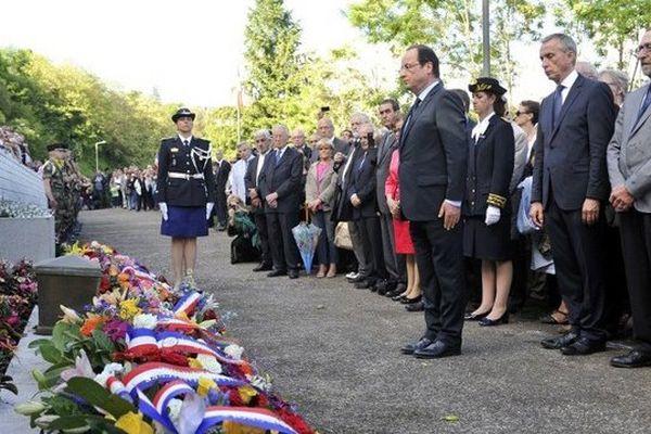 François Hollande lors des cérémonies en hommage aux 99 Pendus de Tulle, l'an dernier