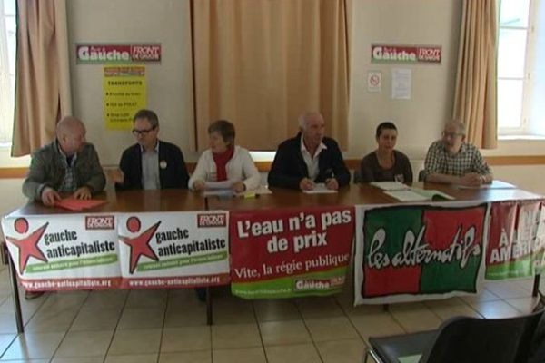 Présentation de la liste du Front de Gauche à Limoges