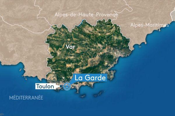 La ville de La Garde, à l'est de Toulon, dans le Var.