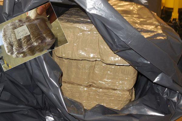 La drogue a été transportée dans une camionnette.