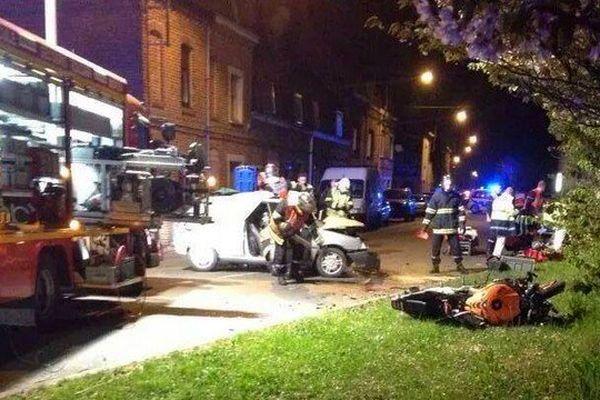 L'accident s'est produit à hauteur de cette chicane à La Chapelle d'Armentières.