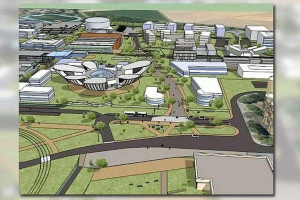 Projet du nouveau campus de l'Université de Reims (quartier Croix-Rouge).