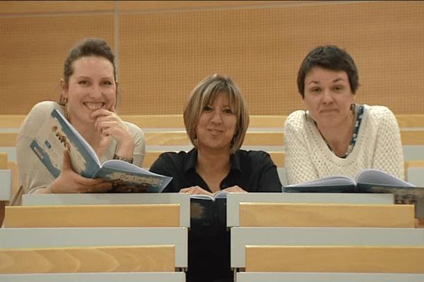Les co-scénaristes de la BD :  Elisabeth Coureault (à droite), Séverine Torrecillas (au centre) et Charlotte Rentler (à gauche).