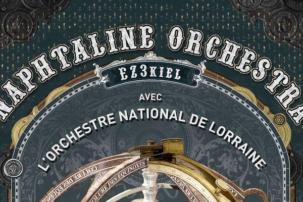 """Le groupe EZ3kiel et l'Orchestre National de Lorraine se produiront le samedi 20 juin à l'Arsenal. Ils interpréteront """"Naphtaline Orchestra"""", une représentation symphonique de l'album """"Naphtaline"""" d'EZ3kiel. Un événement à suivre sur le Facebook et la chaîne Youtube de France 3 Lorraine."""