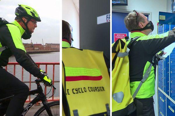 Le Havre - Avril 2020- Jean-François, coursier à vélo