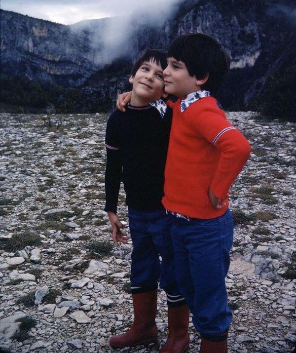 Olivier et son frère jumeau, Sébastien.