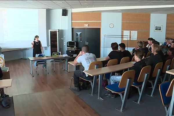 Une salle de cours du CFA BTP Normandie de Dieppe