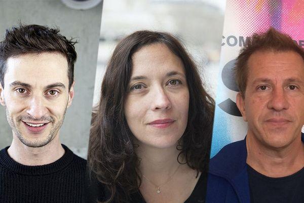 Le rouennais Thomas Jolly, à gauche, Lucie Berelowitsch, à Vire et Marcial Di Fonzo Bo, à Hérouville-Saint-Clair réinventent le théâtre de demain