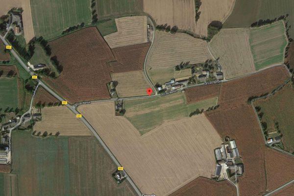 Le lieu Benoît à Pleumeleuc, c'est ici que s'est produite la collision.