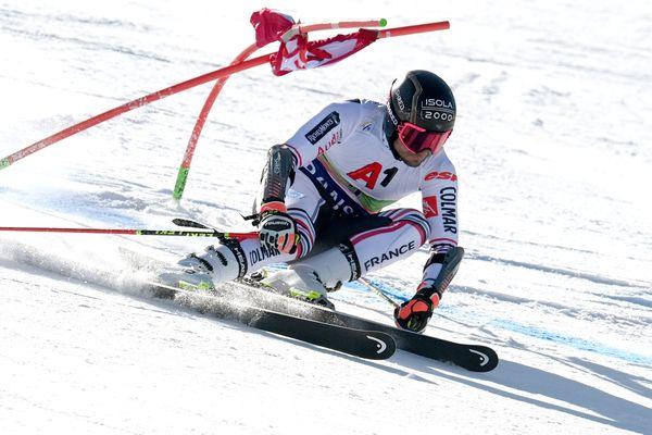 Mathieu Faivre lors du slalom géant de Bankso, en Bulgarie.