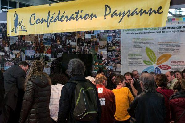 La Confédération Paysanne au Salon International de l'Agriculture à Paris (28/02/2017