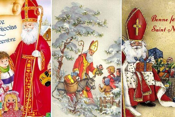 Les enfants s'envoyaient des cartes de Saint-Nicolas