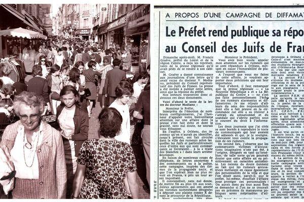 PHOTOPQR/REPUBLIQUE DU CENTRE/Reproduction Eric Malot - Document La République du centre du 09/06/1969 - Affaire de la Rumeur d'Orléans des femmes disparaissaient dans les rues d'Orleans