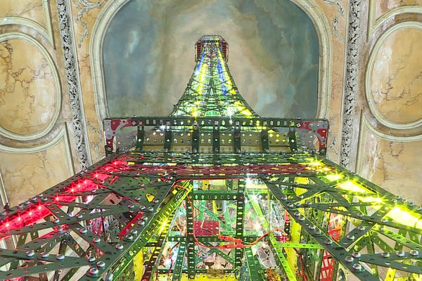 L'exposition consacré à Gustave Eiffel est installée à l'hôtel Despringles à Dijon.