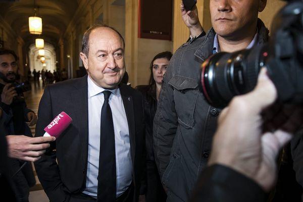 Bernard Squarcini, à son arrivée au palais de justice de Paris