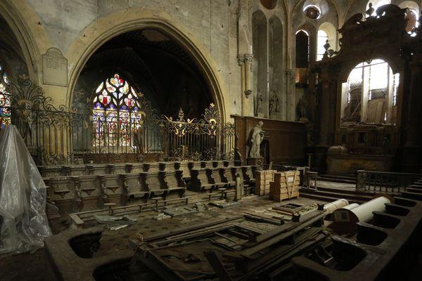 L'église est abandonnée depuis plus de 50 ans.