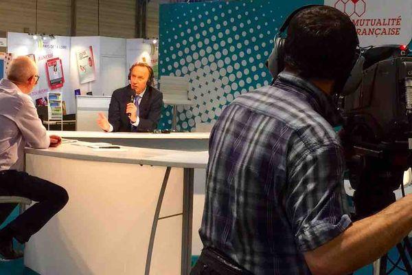 Christophe Chastanet avec le président de la Mutualité Française Etienne Caniard.