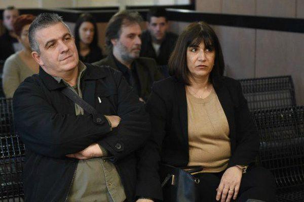 Christophe et Sandrine Ghilarducci, les parents de Fiona assistent au premier jour de procès.