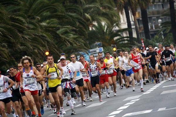 Coureurs lors du marathon Nice-Cannes (Archives)