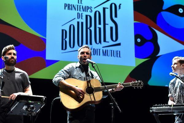 Le groupe Talisco a fait un mini concert sur scène lors de la conférence de presse du printemps de Bourges, le 24 janvier 2017.