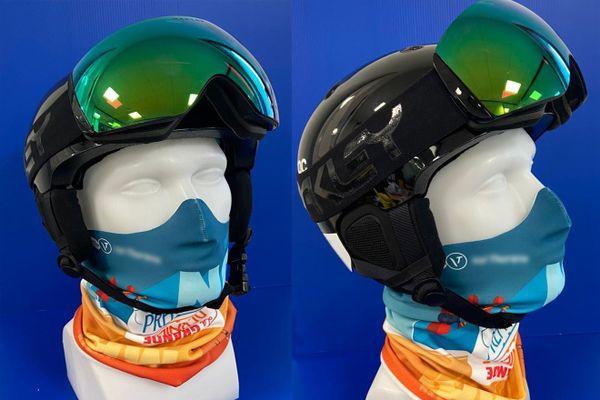 La société Bolboduc a mis au point un tour de cou -masque 2 en 1 fabriqué dans un tissu respirant et filtrant