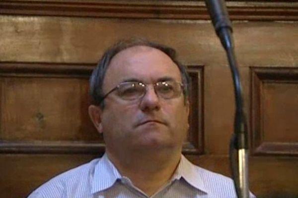 Yves Bureau, lors de son procès devant la Cour d'Assises de Dordogne