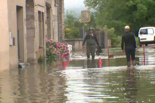 Inondation à Quingey