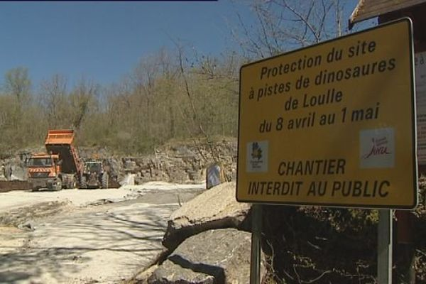 Pendant les travaux, le site des dinosaures de Loulle ne sera pas accessible au public