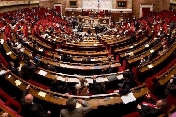 Hémicyle de l'Assemblée nationale (Illustration)
