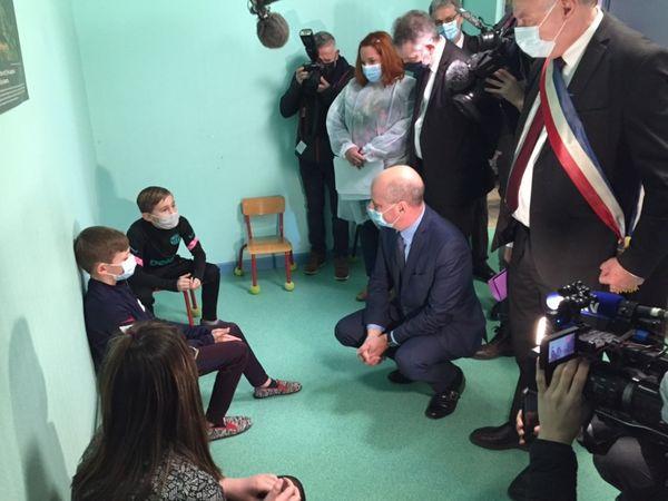 Jean-Michel Blanquer à l'école de Lavoncourt en Haute-Saône le 1er mars 2021
