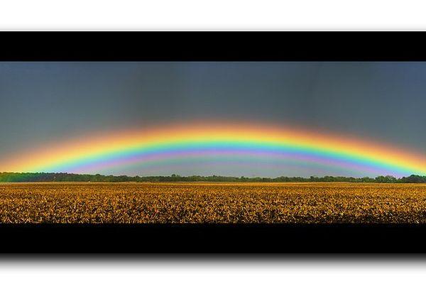 Arc-en-ciel possible sur la région Pays de La Loire.