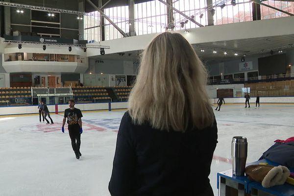 Les patineurs de l'équipe de France ont repris l'entraînement à Courchevel.