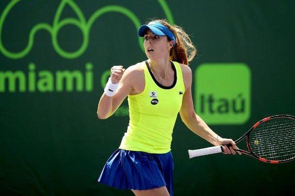Retour gagnant pour Alizé Cornet à Miami, absente depuis l'Open d'Australie à cause d'une blessure au dos.