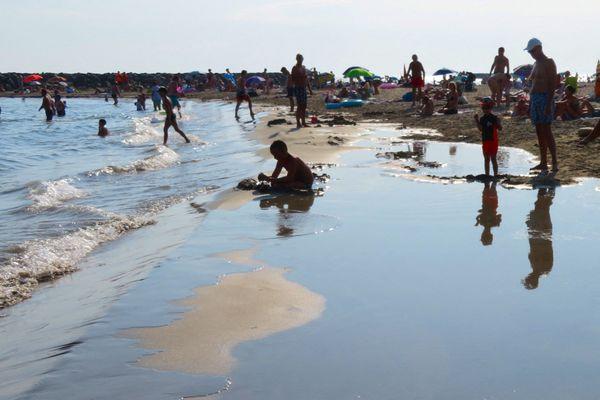Des vacanciers au Cap d'Agde, durant l'été 2020.
