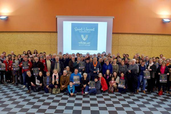 Les participants à la réunion du 28 mars à Montillon, près de Vézelay.