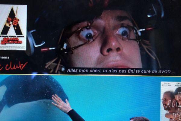 """""""Orange mécanique"""", """"De rouille et d'os"""", ces images de films détournées sur le thème du confinement sont publiées sur le site du cinéma Le Club."""